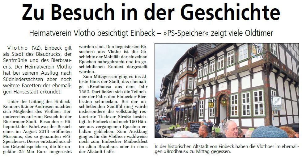 Bustour nach Einbeck