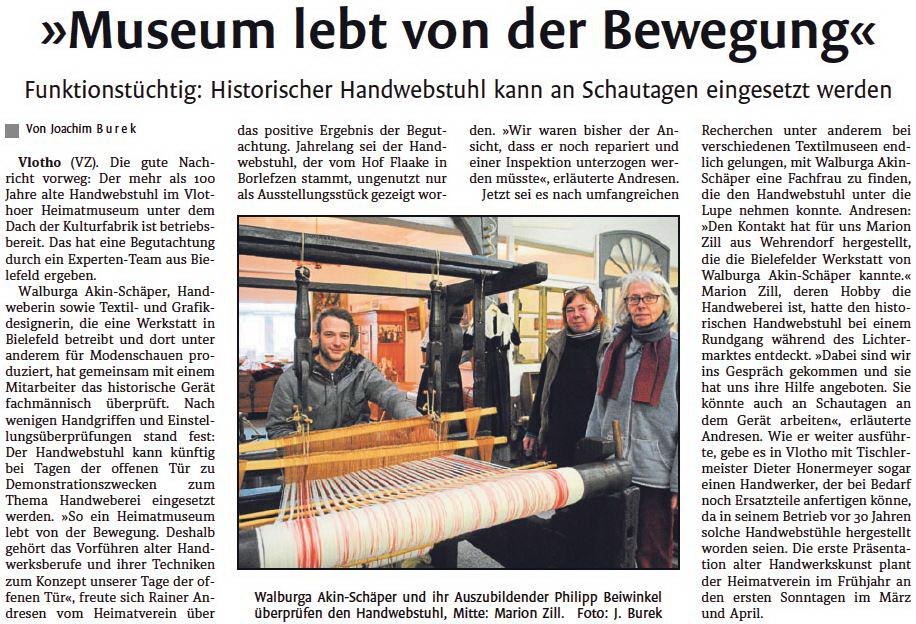 Museum lebt v. Bewegung